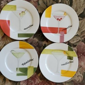 Set of 4 American Atelier Coctail Plates
